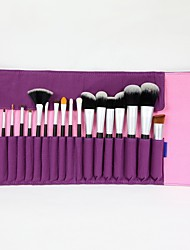 19 Makeup Brushes Set Synthetic Hair Wood Eye / Lip ENERGY
