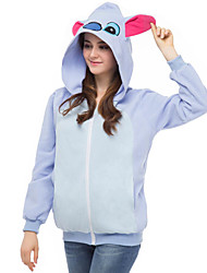 Cute Blue Stitch Hoodie Jacket Polar Fleece Kigurumi  Casual Top Cosplay Costume Adult Unisex