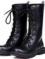 Men's Boots Spring / Fall/ Winter Cowboy / Western Boots / Combat Boots Synthetic Party & Evening/Casual Black