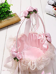 The New Manual Cany Bamboo Weaving Wedding Bridesmaid Wedding Flower Girl Basket Basket Portable Petals