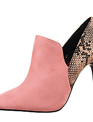 Women's Heels Spring Summer Fall Comfort Leather Dress Party & Evening Stiletto Heel Black Pink Red Gray Khaki Almond Walking