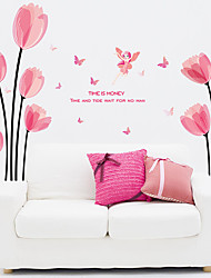 Romance / Still Life / Florals Wall Stickers Plane Wall Stickers / Decorative Wall Stickerspvc Material Removable