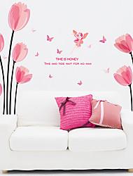 Romance / Nature morte / Floral Stickers muraux Stickers avion / Miroirs Muraux Autocollants Stickers muraux décoratifs,pvc Matériel