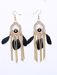 Europe And The United States Jewelry Exaggerated Fashion Clairvoyant Earrings Big Personality Tassels Eardrop Long National Wind