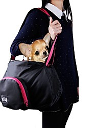 Cat Dog Carrier & Travel Backpack Sling Bag Pet Carrier Portable Solid Black Gray