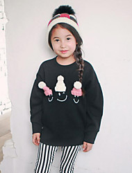 Girl's Casual/Daily Solid Hoodie & SweatshirtCotton Winter / Fall Black