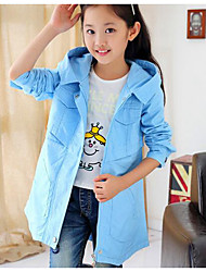 Girl Casual/Daily Print Suit & Blazer,Cotton Winter ¾ Sleeve