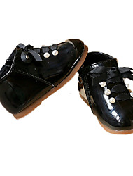 Girl's Flats Winter Others / Comfort Patent Leather Casual Flat Heel Imitation Pearl / Zipper Black / Pink Others