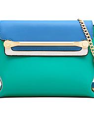 LaFestin Women Cowhide Shoulder Bag White / Blue / Red-6083522