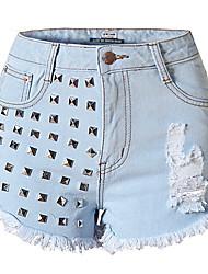 Pantalon Aux femmes Short simple / Chic de Rue Polyester Micro-élastique