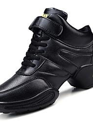 Damen-Sneaker-Outddor / Lässig / Sportlich-PU-Blockabsatz-Komfort-Schwarz