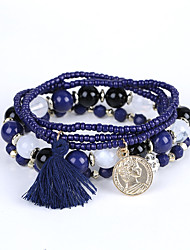 The New European Fashion Diamond BEADS BEADED BRACELET BRACELET MULTI Tassel Coin Factory Direct