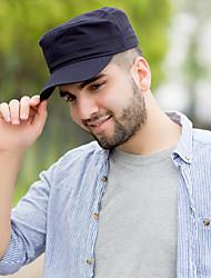 Unisex Men Vintage Work Casual Cotton Baseball Cap Solid color flat top sun hat