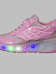 Para Meninos-Tênis-Light Up Shoes Conforto-Anabela-Rosa Vermelho Branco-Tule-Ar-Livre Casual Para Esporte
