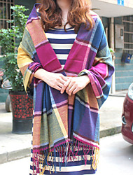 Women Acrylic Scarf,Casual Rectangle