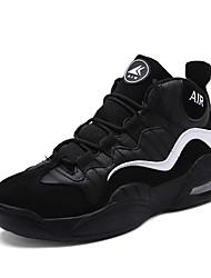 Femme-Extérieure / Décontracté / Sport-Bleu / Noir et rouge / Noir et blanc-Talon Plat-Confort-Chaussures d'Athlétisme-Polyuréthane