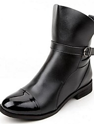 Women's Boots Comfort Leather Casual Black