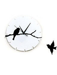 Wall Clock Stereo Bird Branch Digital Clock