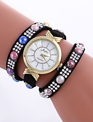 Women's Bracelet Watch Simulated Diamond Watch Imitation Diamond Quartz Leather Band Butterfly Black White Blue Red Pink Beige Rose