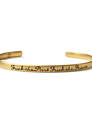 Браслеты Браслет цельное кольцо Браслет разомкнутое кольцо Титан КруглыйМода Винтаж Панк Регулируется Хип-хоп Первоначальные ювелирные