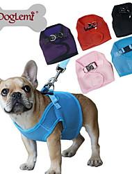 Hunde Geschirre Regolabile/Einziehbar / Atmungsaktiv Solide Rot / Schwarz / Blau / Rosa / Purpur Gitter