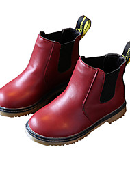 Girl's Boots Fall / Winter Comfort PU Dress / Casual Flat Heel Others Black / Brown / Burgundy Walking