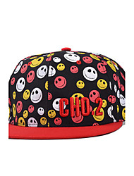 Men And Women Casual Smile Pattern Embroidery Letter Printing Shopping Baseball Cap Outdoor Hip-Hop Sun Hat