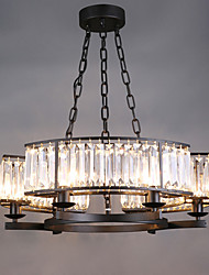 5W Pendant Light ,  Vintage / Country Painting Feature for Crystal / Designers MetalLiving Room / Bedroom / Dining Room / Study
