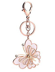 Butterfly Metal Creative Key Ring Car Pendant