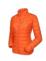 Camel Women's Outdoor Waterproof Lightweight Stand Collar Thin Down Jacket Color Grey/Red/Orange