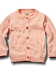 Girl's Casual/Daily Solid Sweater & CardiganCotton All Seasons Beige