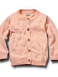 Mädchen Pullover & Cardigan-Lässig/Alltäglich einfarbig Baumwolle Ganzjährig Beige