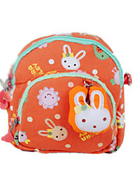 Kids Kids' Bags Cotton Special Material All Seasons Casual Outdoor Zipper Orange Blushing Pink