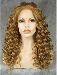 imstyle frente del cordón sintético rizado marrón 20''light pelucas densidad pesada a la venta