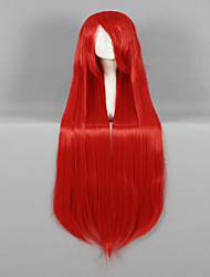 High Quality Synthetic Classical Women Wig 100cm Long Straight  Red Cosplay Custome Party Wig