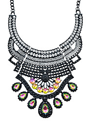 Gothic Style Colorful Rhinestone Chunky Collar Necklaces