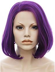 imstyle 10''new прибытия короткой моды синтетические кружева фронт фиолетовый боб парик шнурка