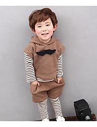 Jungen T-Shirt / Hose / Weste / Kleidungs Set-Lässig/Alltäglich einfarbig Baumwolle Frühling Schwarz / Braun / Rot
