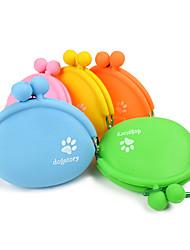 Chat Chien Bols & Bouteilles d'eau Animaux de Compagnie Bols & alimentation Portable Orange Jaune Vert Bleu Rose