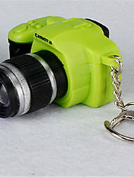 B Parkson Third-Generation Simulation SLR Camera Metal Keychain Light Emitting LED Small Flashlight BS-032