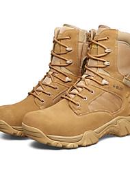 Men's Boots Fall / Winter Comfort PU Casual Flat Heel  Black / Khaki Sneaker