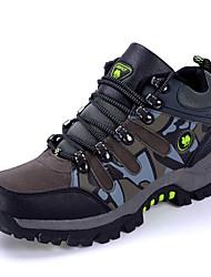 Коричневый / Темно-зеленый / Серый-Мужской-Для прогулок / Для занятий спортом-Замша-На плоской подошве-Удобная обувь-Спортивная обувь