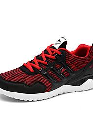 Masculino-Tênis-Conforto-Rasteiro-Azul Laranja Preto e Vermelho Preto e Branco-Couro Ecológico-Para Esporte