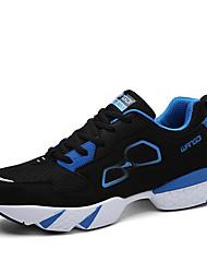 Masculino-Tênis-Conforto-Rasteiro-Preto Azul Preto e Dourado Preto e Branco-Tule-Para Esporte