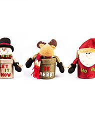 1pc Sankt / elk zylindrische Box Weihnachten Geschenk-Boxen kreativen Verzierungen (gelegentliche Farbe)