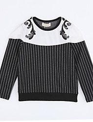 Girl Casual/Daily Striped Blouse,Cotton Fall Long Sleeve Regular