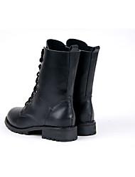 Women's Boots Comfort PU Casual Comfort Black 1in-1 3/4in