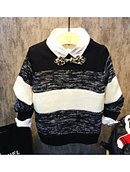 Boy's Casual/Daily Striped Sweater & CardiganAcrylic Spring / Fall Black