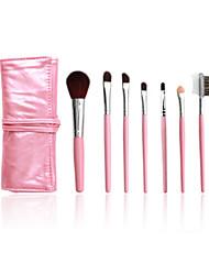 5 Makeup Brushes Set Horse Hair Professional / Portable Plastic Handle Face/Eye / Lip Pink