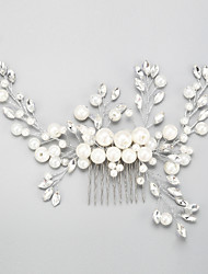 Women's Rhinestone Alloy Imitation Pearl Headpiece-Wedding Special Occasion Hair Combs 1 Piece